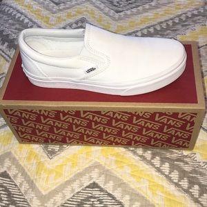 White Slip-On Vans *Great Condition*